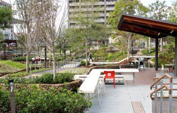秋の虎渓用水広場