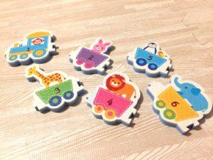 お風呂のおもちゃ動物パズル