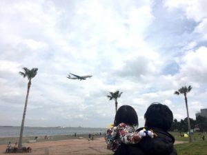 飛行機が間近に見えます