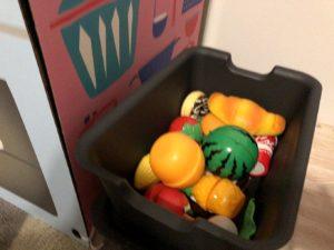 食材の収納ボックスもセット