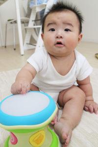 ドラムを叩いて欲しい息子