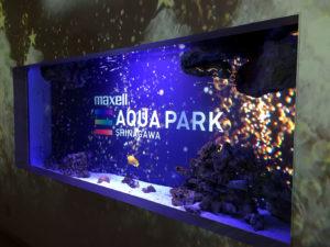 夜のアクアパーク品川