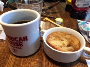 コーヒーとオニオンスープ