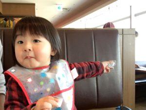 飛行機に興奮する息子