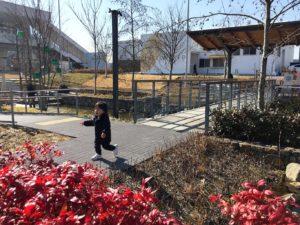 冬の虎渓用水広場
