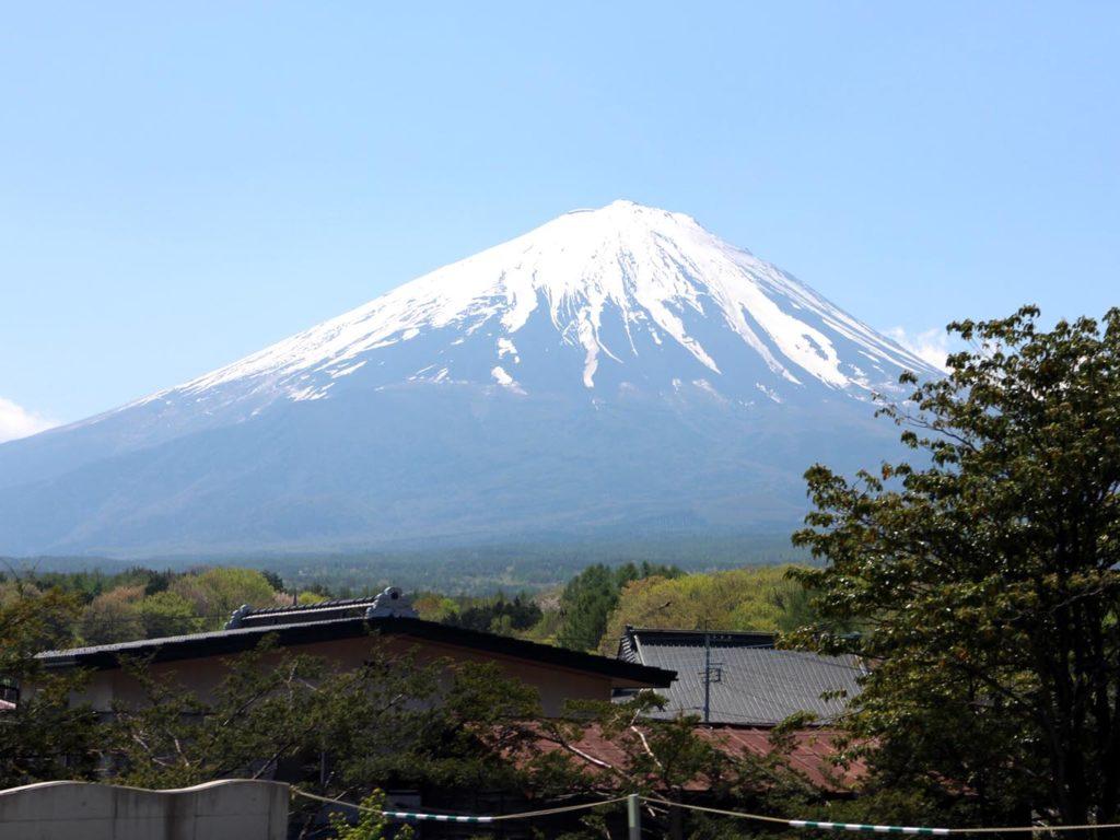 道中見える富士山