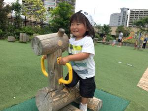 木製遊具馬