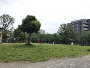 中央部は何もない広場