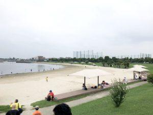 大森ふるさとの浜辺公園人工砂浜
