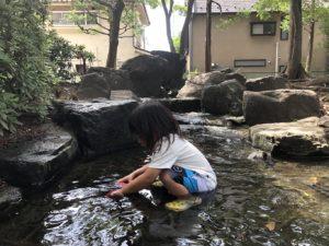 水が流れ出る場所