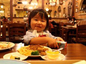 レストランでディナー