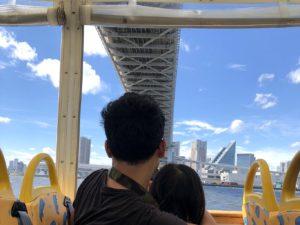 カババスからレインボーブリッジを見上げる