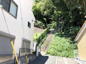 ビュースポットへの階段