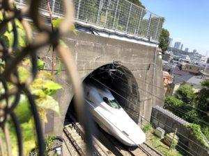 横からトンネルに入るところを見る