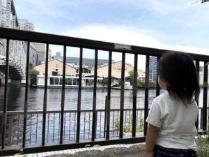 対岸の公園からT.Y.HARBORを眺める