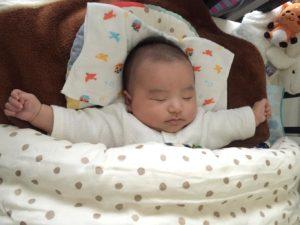 ムートン効果でぐっすりの赤ちゃん