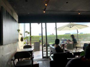チチカフェ店内からの眺め