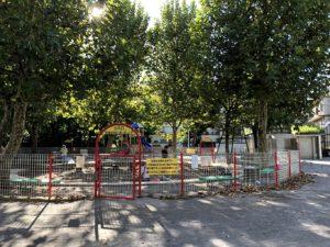 カフェ目の前の公園