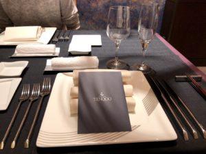 テンクウのディナーのテーブルセット