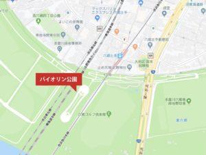 バイオリン公園地図