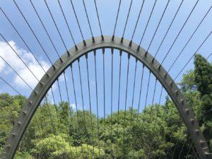 トンネルから出た所の橋
