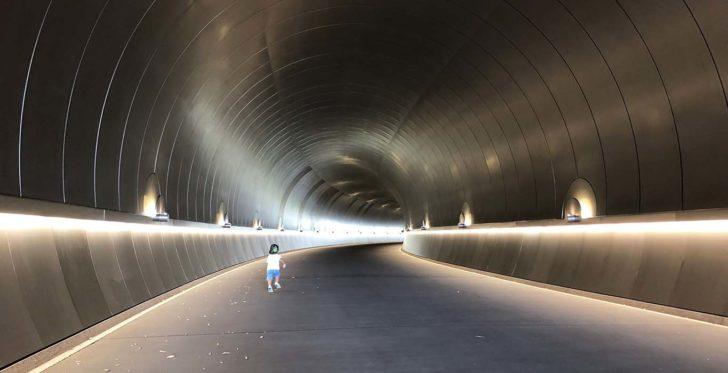 ステンレスのトンネル