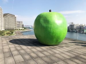 安藤忠雄氏の青リンゴ