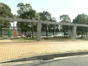 美術館側の公園