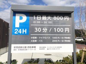 安満遺跡公園駐車場