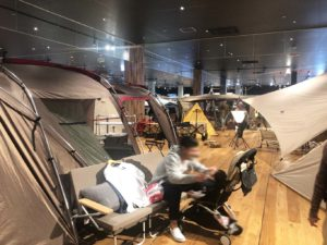 テントが並ぶエリア
