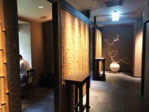 日本料理 滴翠2人席前廊下